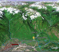 Google Earth 3D map Alpe Fuori