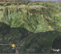 Google Earth 3D map Angliru - Gamonal