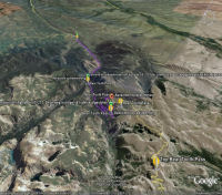 Google Earth 3D map BearTooth Pass