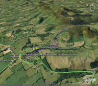 Google Earth 3D map Blwch title=