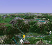 Google Earth 3D map Col de lIzoard