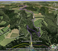 Google Earth 3D map Col de Groesteen