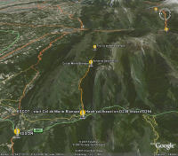 Google Earth 3D map Col de Marie Blanque