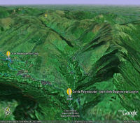 Google Earth 3D map Col de Peyresourde