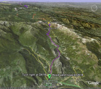 Google Earth 3D map Col de Port