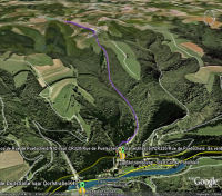 Google Earth 3D map Col de Putscheid