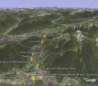 Google Earth 3D map Col de Tamié