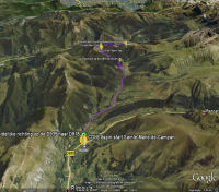 Google Earth 3D map Col de lAspin
