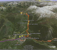 Google Earth 3D map Col de lAubisque title=