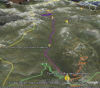 Google Earth 3D map Col de lIseran