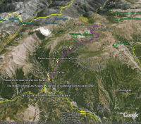 Google Earth 3D map Col de la Bonette