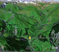 Google Earth 3D map Col de la Croix de Fer