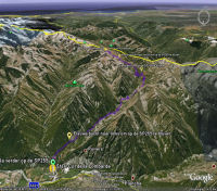 Google Earth 3D map Col de la Lombarde