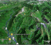 Google Earth 3D map Col de la Madeleine