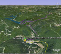 Google Earth 3D map Col de la Moutoune