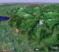 Google Earth 3D map Col des Mosses