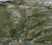 Google Earth 3D map Col du Galibier