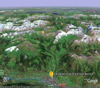 Google Earth 3D map Col du Grand Saint Bernard