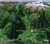 Col du Grand Saint Bernard sur Google Earth