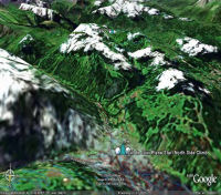 Google Earth 3D map Col de Joux Plane