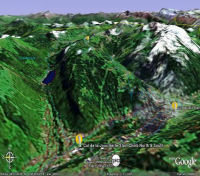 Google Earth 3D map Col de la Joux Verte