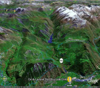 Google Earth 3D map Col du Lautaret