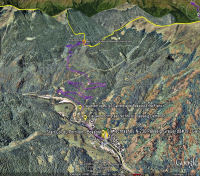 Google Earth 3D map Col du Portillon