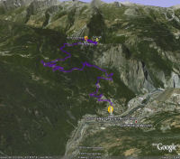 Google Earth 3D map Col du Télégraphe
