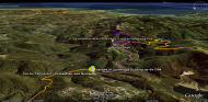 Google Earth 3D map Col du Tanneron