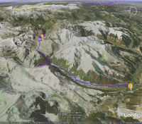 Google Earth 3D map Col du Tourmalet
