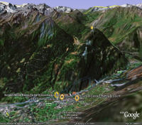 Google Earth 3D map Colle San Carlo