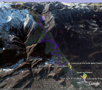 Google Earth 3D map Colle delle Finestre title=