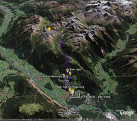 Google Earth 3D map Diga di Finstertal