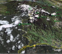 Google Earth 3D map Genting Highlands title=