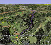 Google Earth 3D map Hosinger Plateau