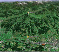 Google Earth 3D map Kitzbüheler Horn