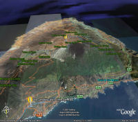 Google Earth 3D map Las Canadas