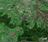Google Earth 3D map Vijlenberg - from Kalkoven