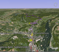 Google Earth 3D map mont Poupet