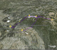 Google Earth 3D map Mont Ventoux