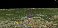 Google Earth 3D map Montagne de Lure