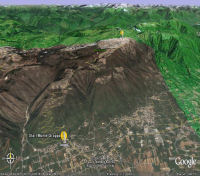 Monte Grappa sur Google Earth