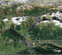 Google Earth 3D map Mortirolo title=