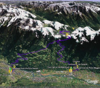 Google Earth 3D map Mortirolo