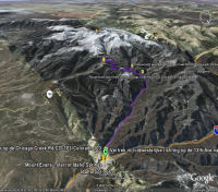 Google Earth 3D map Mount Evans