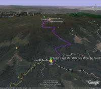 Google Earth 3D map Mount Baw Baw