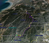 Google Earth 3D map Mt. Tamalpais