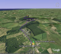Google Earth 3D map Mynydd Preseli title=