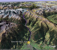 Google Earth 3D map Passo dello Stelvio