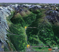 Google Earth 3D map Passo Gavia title=